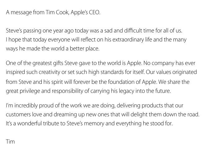 Tim Cook Letter