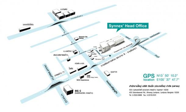 แผนที่สำนักงานใหญ่ SYNNEX