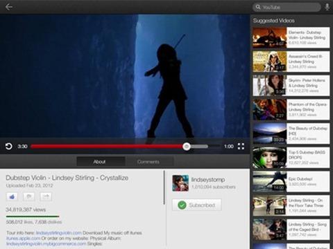 Youtube Updates for iPhone 5 / iPad 2