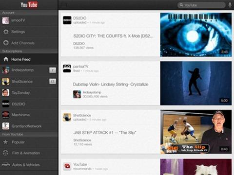 Youtube Updates for iPhone 5 / iPad 3