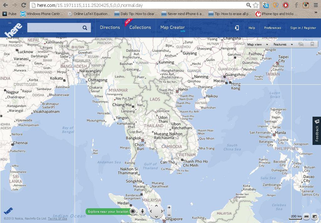 here maps nokia 2