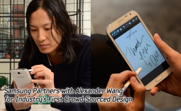 Alexander Wang with Galaxy Note II