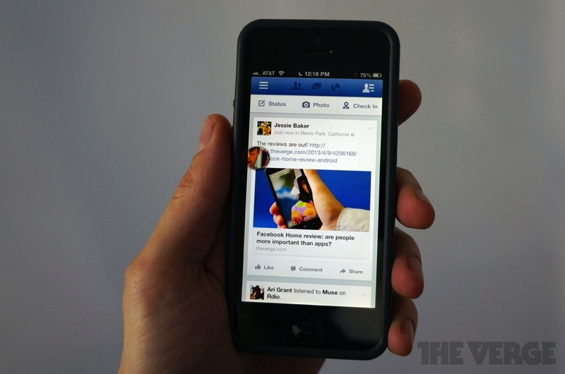 Facebook 6.0 for iOS with Chat Heads