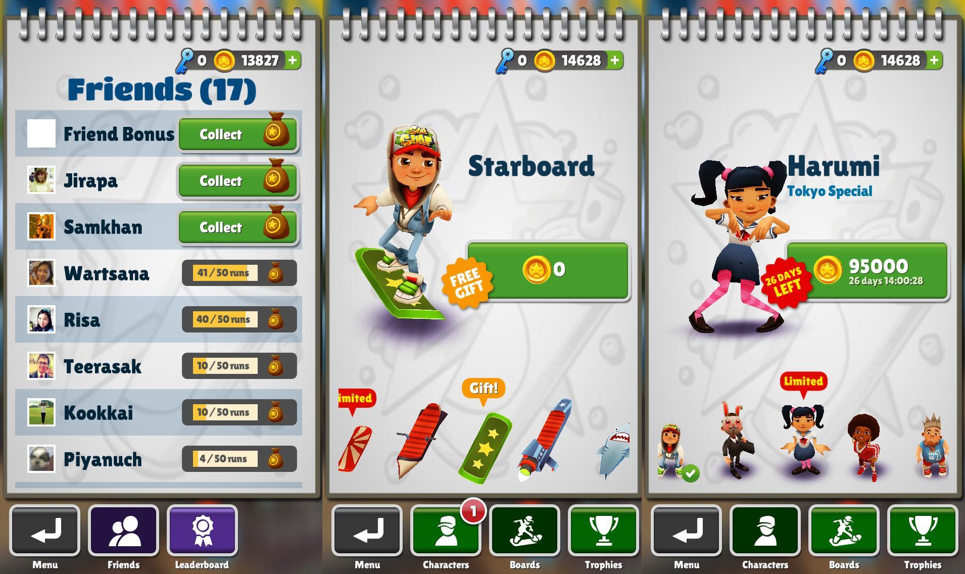 Subway Surfers บน iOS และ Android