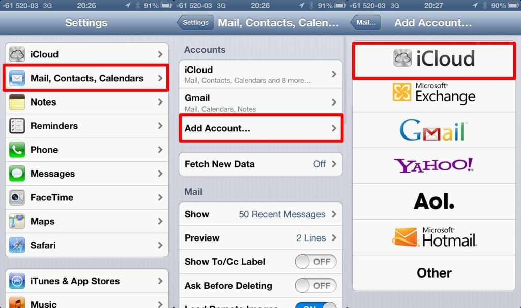how to find secret email accounts on iphone