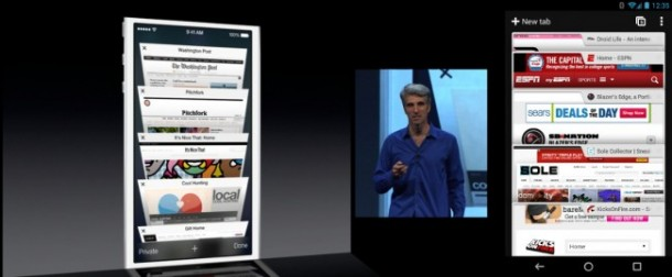 iOS 7 Safari VS. Chrome