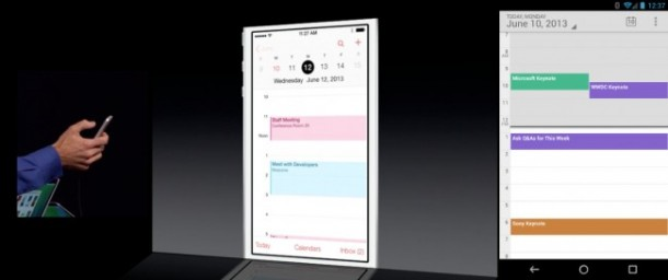 iOS 7 Calendar Application