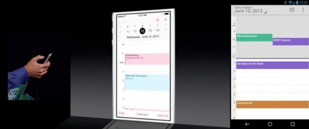 iOS 7 Calendar Application
