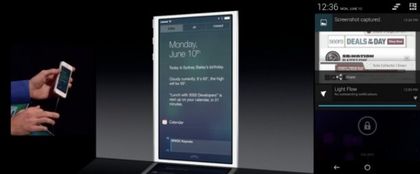 iOS 7 Lock Screen Notification