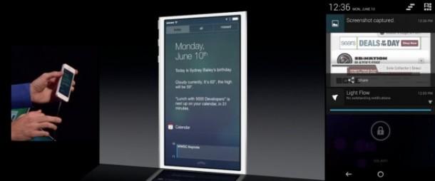 iOS 7 Lock Screen Notification