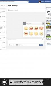 Facebook on WP8_Desktop version 1
