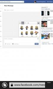 Facebook on WP8_Desktop version 4