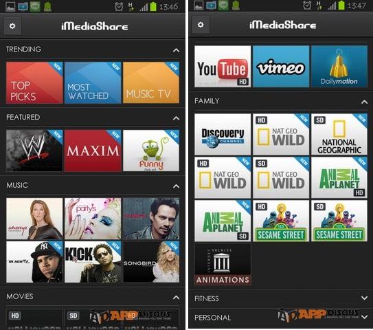 นอกจากจะส่งภาพ เพลง หนัง ที่มีอยู่ในเครื่องโทรศัพท์เราไปเล่นบนจอทีวี ยังสามารถส่งคลิปวีดีโอจากเว็บไซด์ต่างๆ ที่มีมาให้ภายในแอป ส่งไปเล่นบนทีวีได้ด้วย เช่น Youtube, Vimeo เป็นต้น