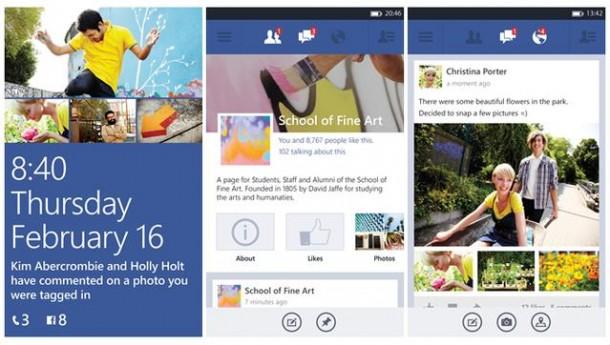 Facebook for Windows phone 8