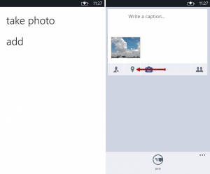 Add photo and check-in