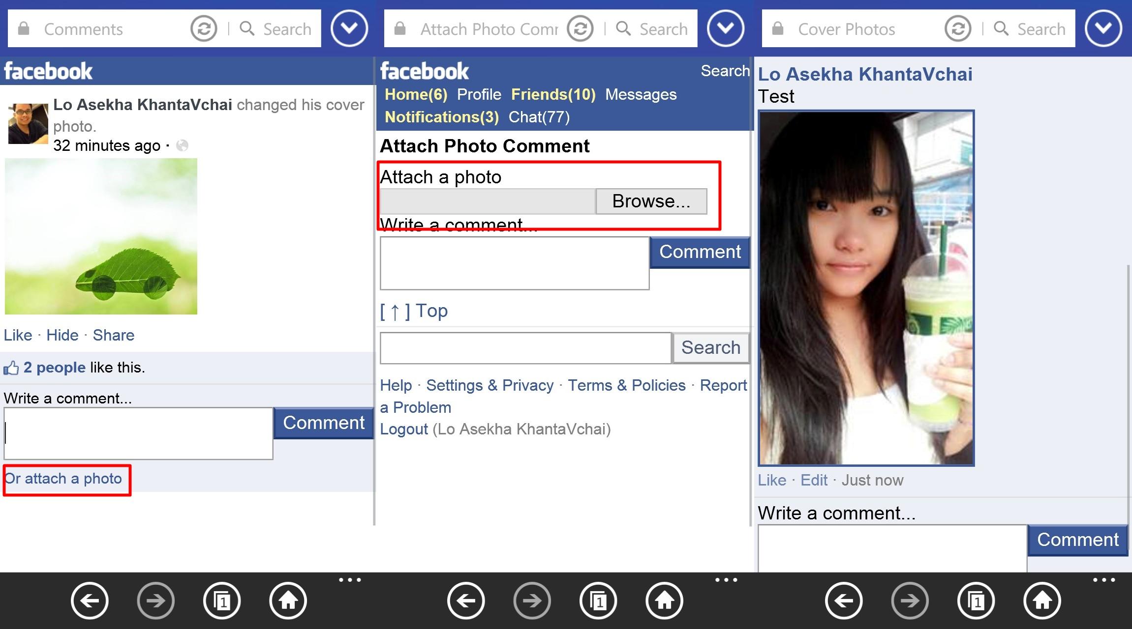Tips & Tricks] วิธีโพสรูปในคอมเม้นท์ของ Facebook สำหรับ