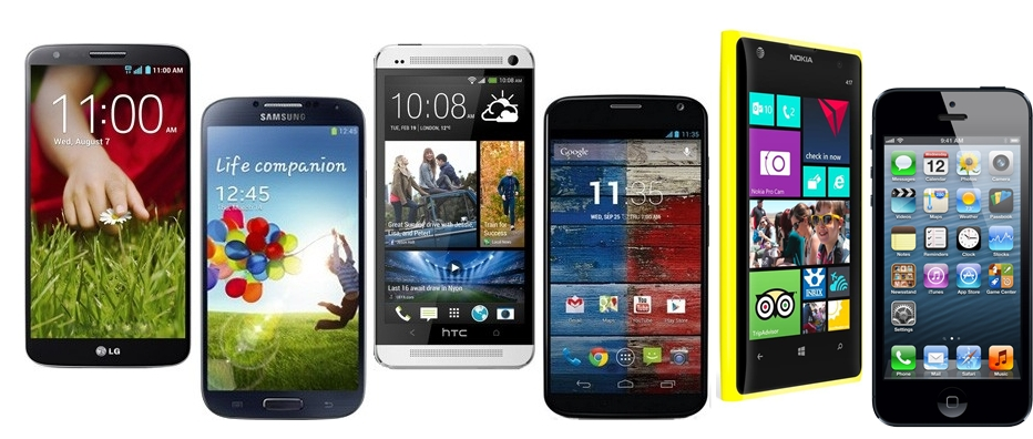 LG G2 vs Samsung Galaxy s4, iPhone 5, HTC One, Nokia Lumia 1020 Moto X