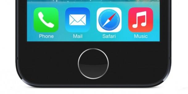 รูปภาพม็อคอัพของปุ่มโฮมจากกล่อง iPhone 5S ที่หลุดออกมาจากประเทศในเอเชีย