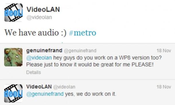 VLC Tweet