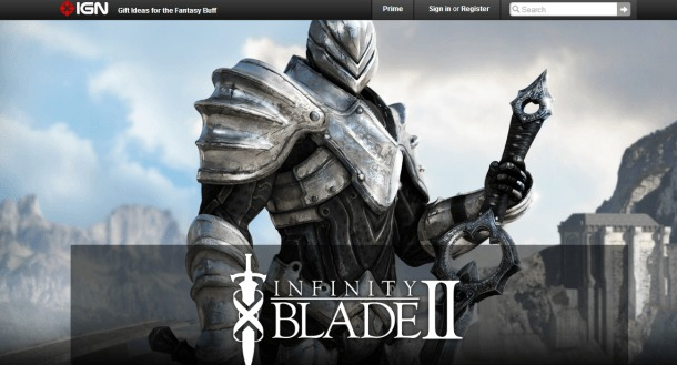 IGN Free game of December - Infinity Blade II