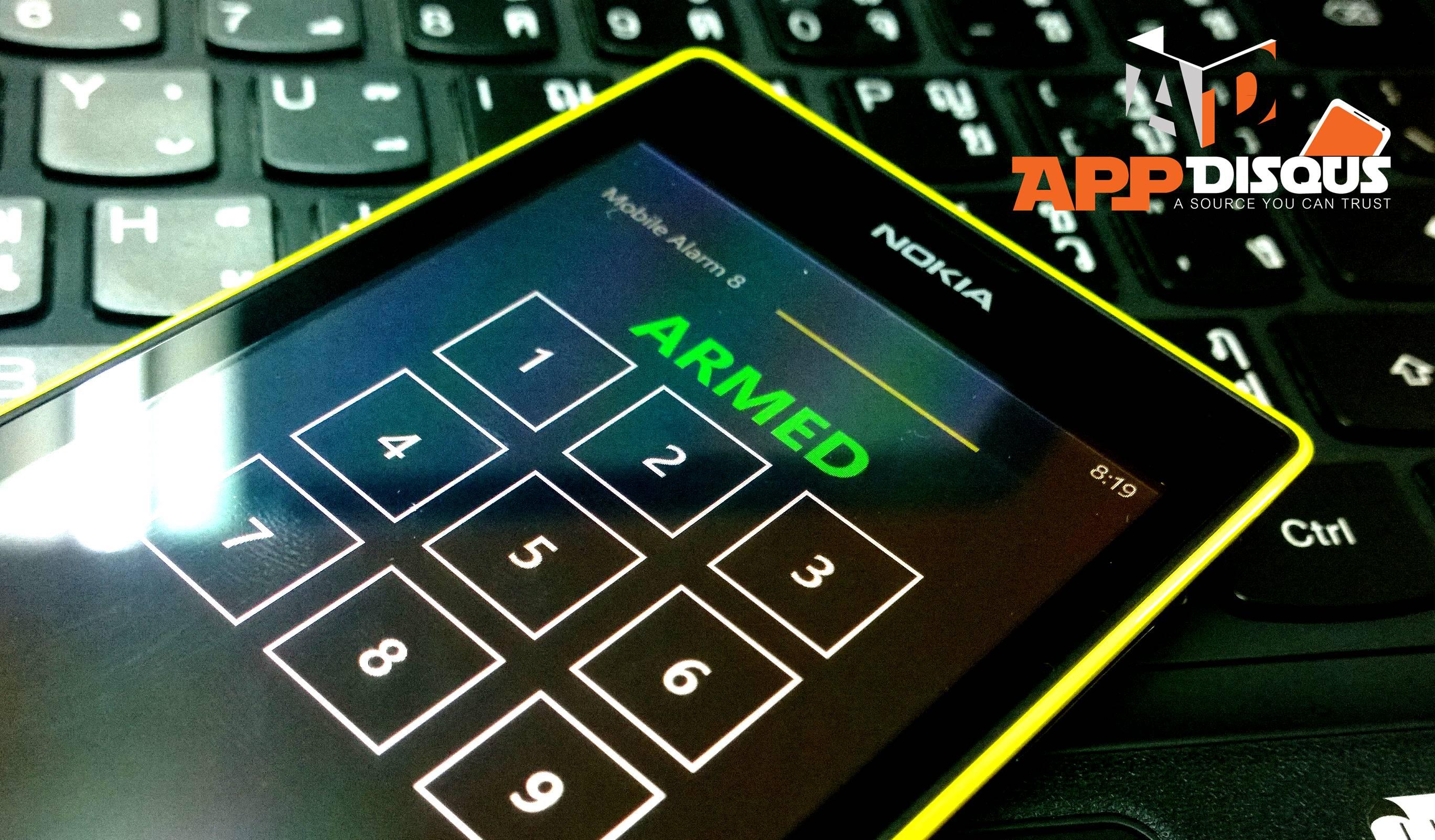 Mobile Security Alarm 8 windows phone on nokia lumia