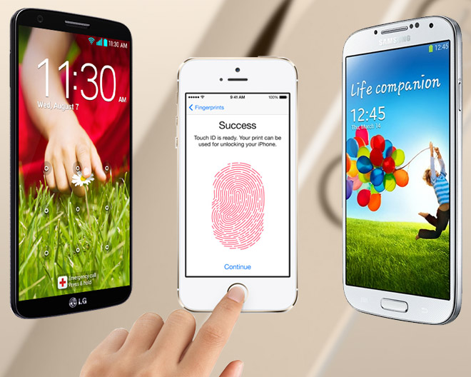 Samsung Galaxy S5 vs iPhone 5S Touch ID Comparison