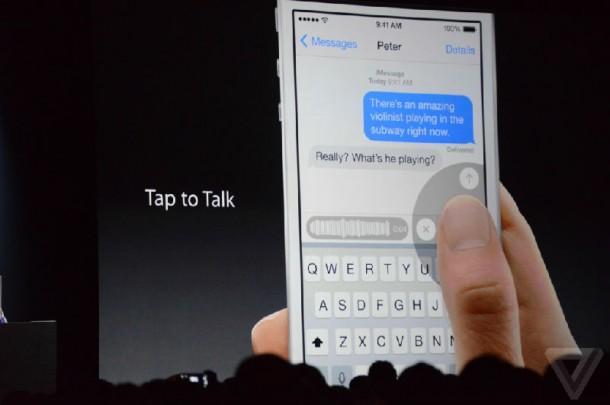 Tap To Talk on iOS8