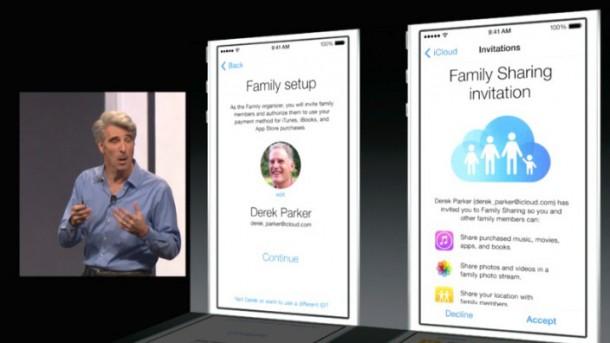 Family Sharing on iOS8