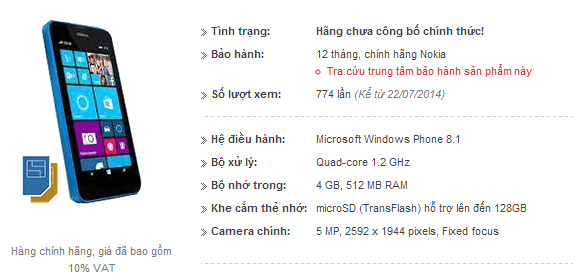 Lumia 530 info leaked_lead