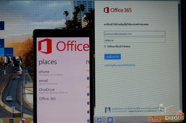 Office 365 การใช้โปรแกรม Microsoft Office บน Cloud Service ของ Microsoft ก็ใช้งานได้บน Lumia 930 เช่นกัน