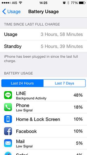 battery iOS8