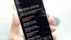 delete Backups file windows phone