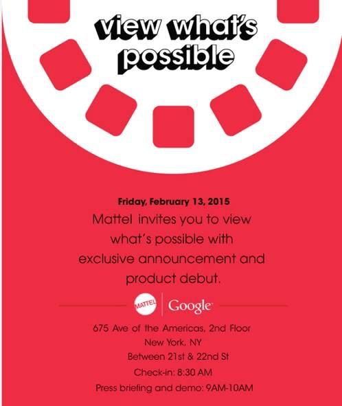 Mattel Google New Product Invitation