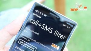 call sms filter windows phone lumia