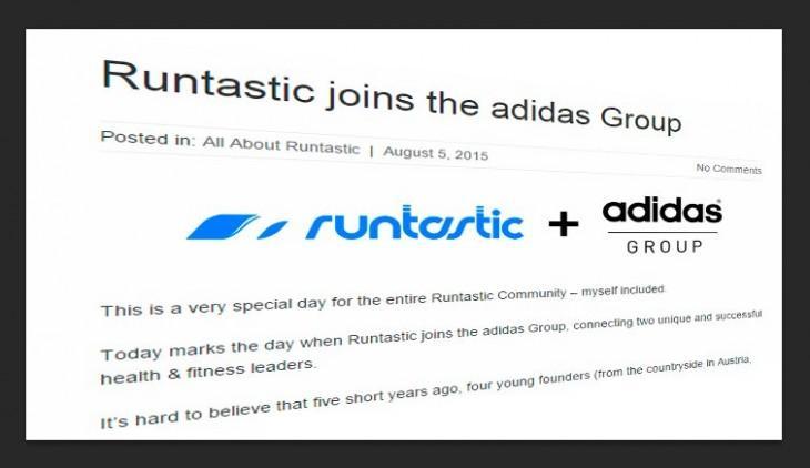 Runtastic joins Adidas Group
