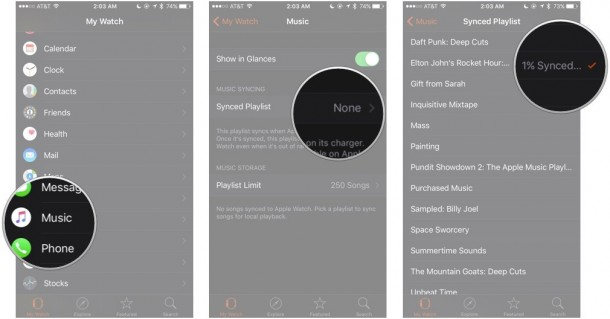 Sync Songs to Apple Watch