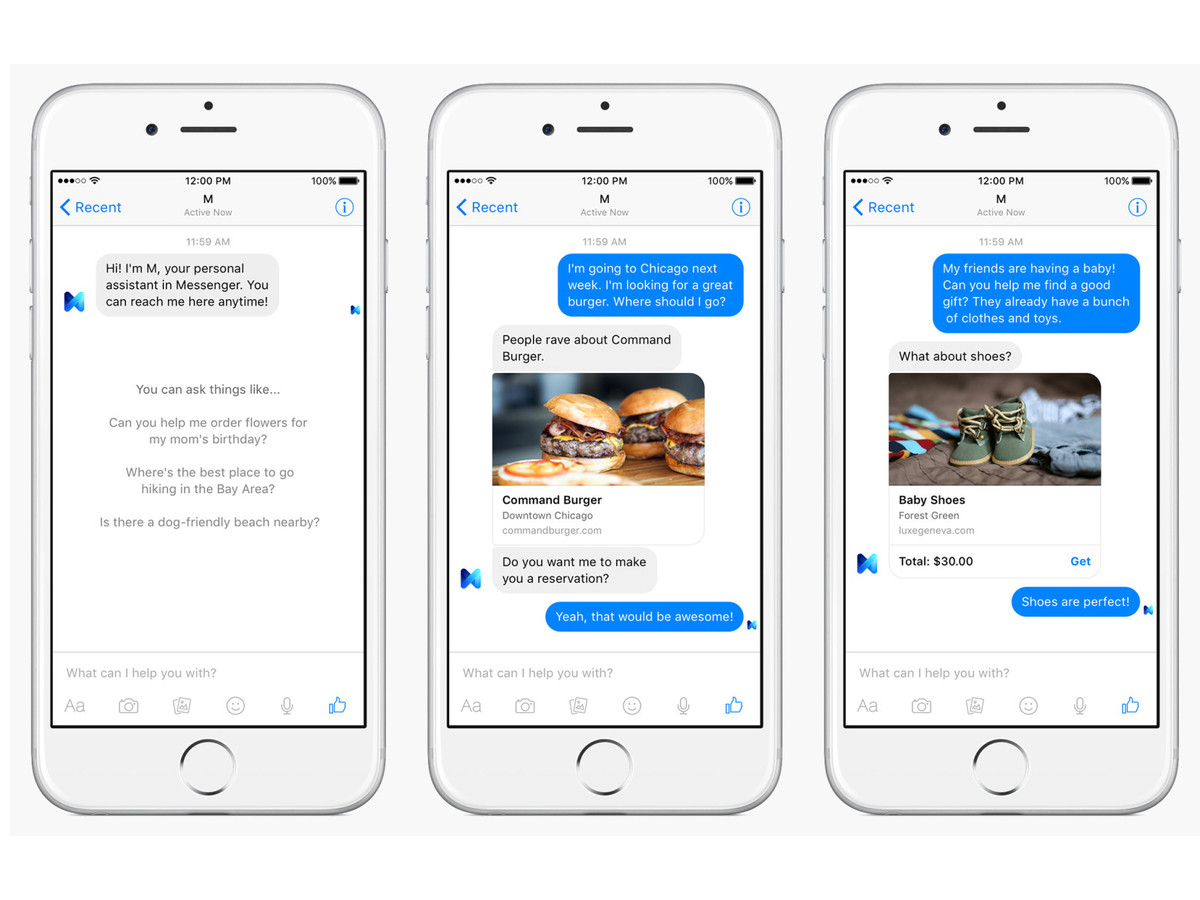 M Facebook Messenger Assistant is pre-launched