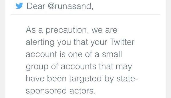 Twitter alert user