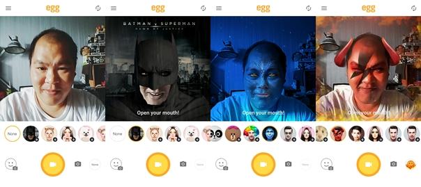Egg Action Selfie app