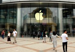 BEIJING, CHINA - JUNE 3: (CHINA OUT) Citizens walk into an Apple Store on June 3, 2016 in Beijing, China. Apple Inc. was recently listed as an enterprise of serious dishonesty and fined 50,000 yuan (about 7,612 USD dollar) by the Beijing Municipal Bureau of Statistics due to some discrepancies in their financial status and retail status in 2014. (Photo by VCG/VCG via Getty Images)