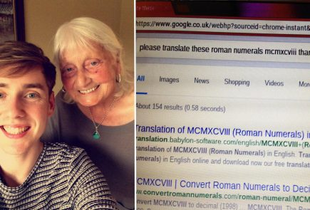 grandma search google with thank you 1
