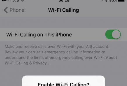 Enabling AIS WiFi Call