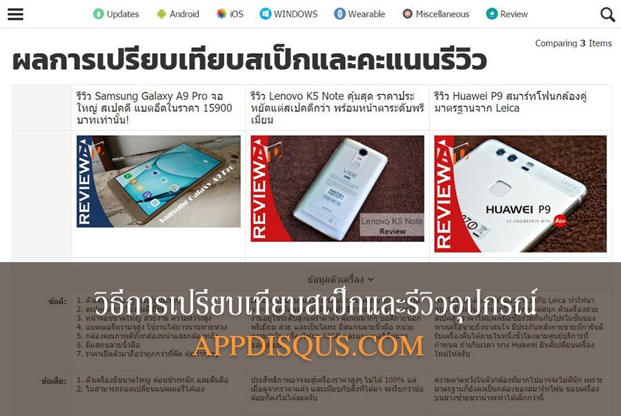 How to Compare Mobile Spec AppDisqus Cover