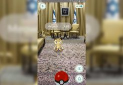 meowth in israel president room