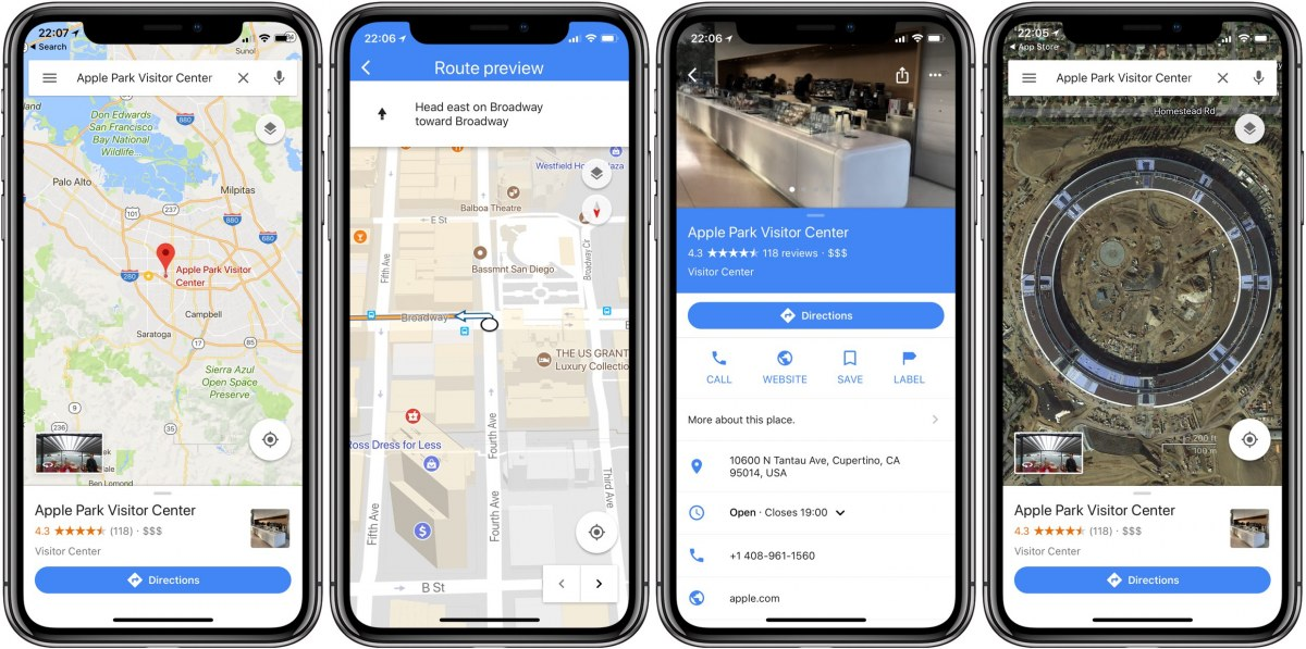 Google-Maps-iPhone-X-support