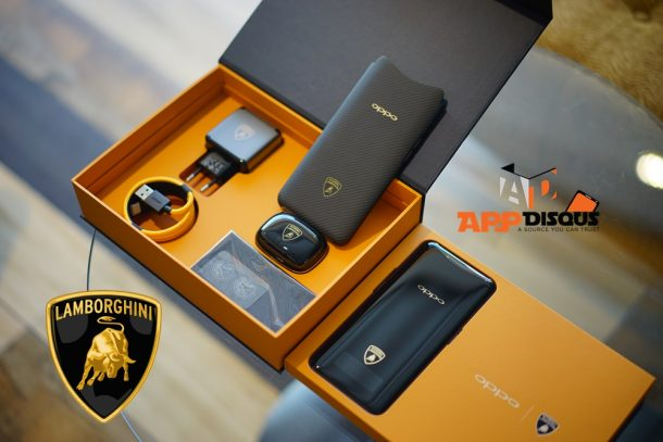 Appdisqus ขอขิง! อวดของในกล่อง OPPO Find X Automobili Lamborghini Edition สวย…ขาดใจ