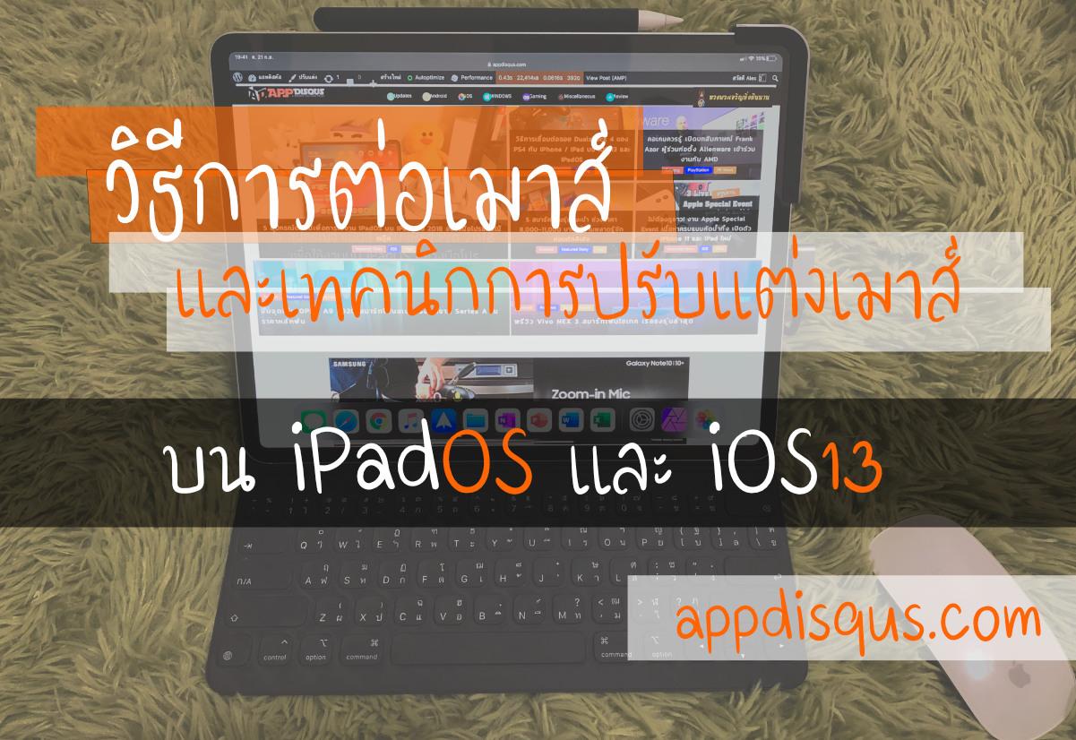 วิธีการต่อเมาส์ไร้สายกับและปรับแต่งเมาส์บน iPadOS และ iOS13