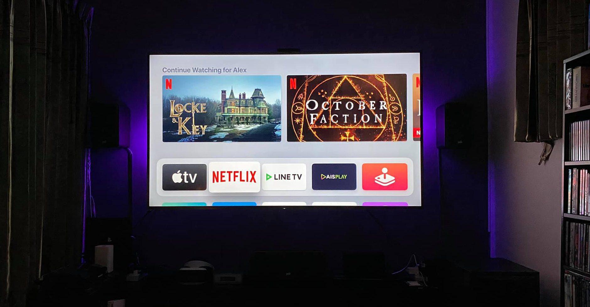 TV In Hometheater Room